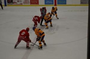 A junior league hockey game