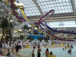 This is the indoor wave pool and slide. Largest in the world.